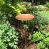 copper top bamboo bird bath