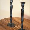forged pipe candlesticks